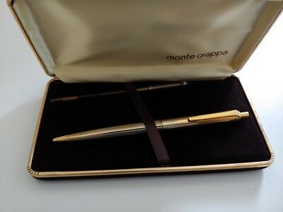 montegrappa gold ballpoint pen + box new old stock penna