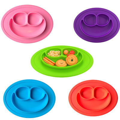 Silicone Integral Placemat Infant Child Dishes Grid Plate Baby Baby Food Dish