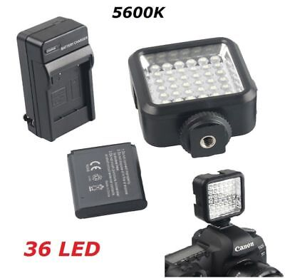 Pro 36 LED Video Light + Rechargeable Battery Kit For DV Canon Nikon Sony Camera