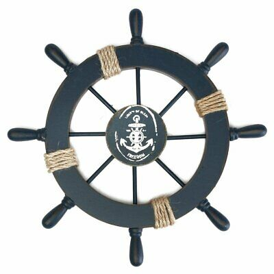Nautical Wood Anchor Boat Ship Steering Wheel Fishing Net Home Party Wall Decor