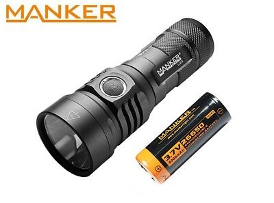 New Manker U23 (White) USB Charge Cree XHP50.2 2000LM LED Flashlight (w/Battery)