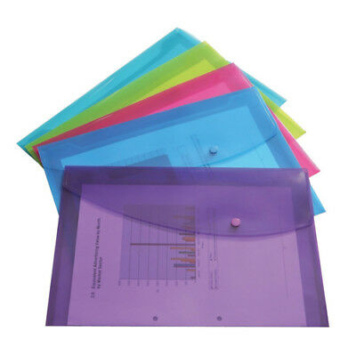 Rapesco Foolscap Assorted Popper Wallet Pack of 5 0688