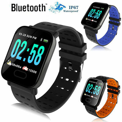 A6 Waterproof Smart Watch Heart Rate Monitor Bracelet Wristband for Android
