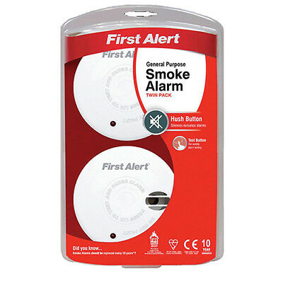 First Alert General Use Smoke Alarm with Silencer Button White Ref FT3020 [Pack