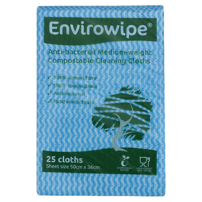 Envirowipe Antibacterial Cleaning Cloths 500 x 360mm Blue Pack of 25 EWF150