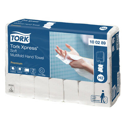 Tork Xpress Premium Soft Hand Towels Multifold 2 Ply White 100289 Pack of 21