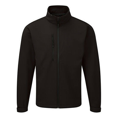 Jacket Soft Shell Water Resistant Breathable 320gsm Size Medium Black