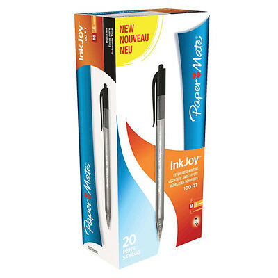 Paper Mate Inkjoy 100 Retractable Ballpoint Pen Medium 1.0mm Tip 0.7mm Line Blac