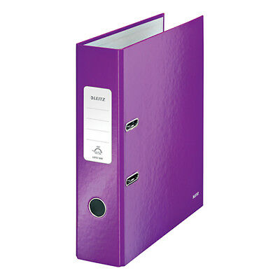 Leitz WOW Lever Arch File 80mm Spine for 600 Sheets A4 Purple Ref 10050062 [Pack