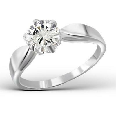 Melchior Jewellery Sterling Silver SOLITAIRE Created Diamond Engagement RING
