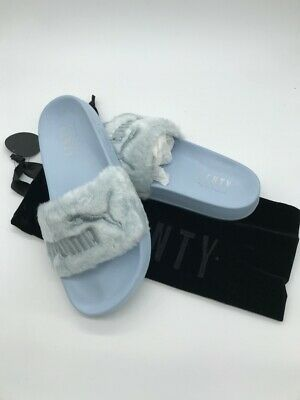 f383ee8580ce Puma x Rihanna Fenty Fur Slide Cool Blue Sandal Shoes 365772-03 100%  Authentic