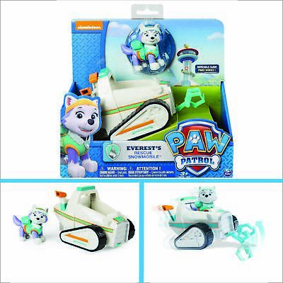 Paw Patrol Everest's Rescue Snowmobile Child Vehicle and Figure Childrens Toys