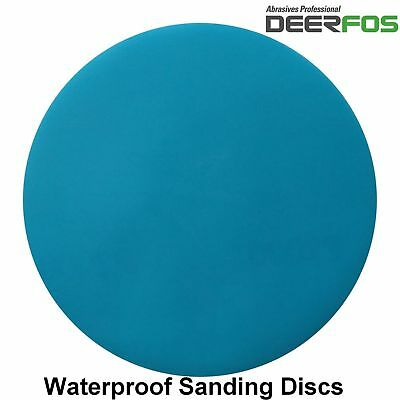 125mm Sanding Discs Orbital Wet or Dry Sandpaper Pads Plain Velro P40-P3000