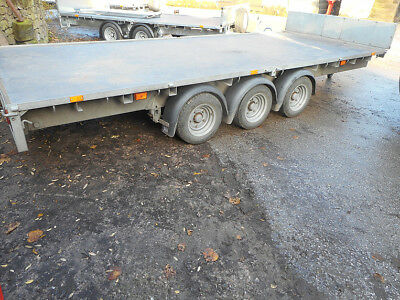 Ifor Williams Lm166 Tri Axle Flat Bed Trailer C2283 Year 2016