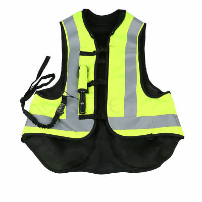 Size XXL Motorcycle Air Bag Protect Airnest Airbag Vest Hi Viz W/ CO2 Cartridge