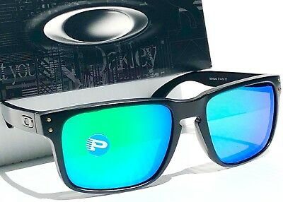 b2edd7bf17 NEW  Oakley HOLBROOK Matte BLACK Galaxy POLARIZED Jade   Grey Sunglass 9102