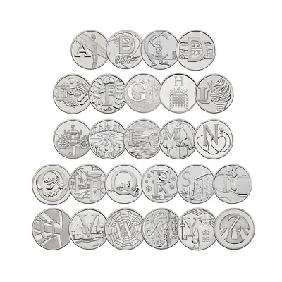 Alphabet A-Z 10p, Ten Pence Coins 2018 Great British Coin Hunt BU, Early Strike
