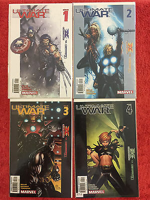 ULTIMATE WAR 1 2 3 4 Marvel RUN of 4 Complete 2003 VF/NM Millar Bachalo
