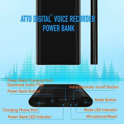 Power Bank Voice Activated Recorder | 14 Days Continuous Record | 5000
