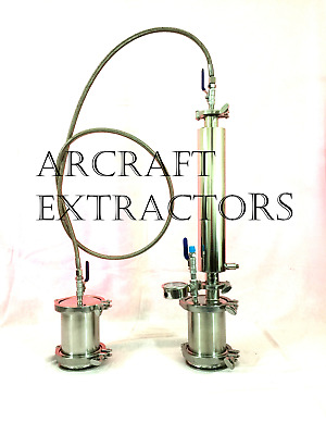 NEW BIGGER BHO Extractor Closed Loop Passive Recovery with DEWAXING Column