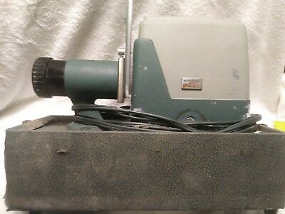 Vintage ARGUS 300 Automatic Slide Projector f/3.5 Lens w/Case 1960s Made in USA
