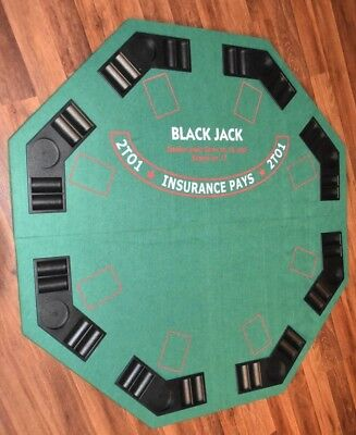 New 4 Foot Benmif Blackjack Table top chip holder tray octagon Poker play cards