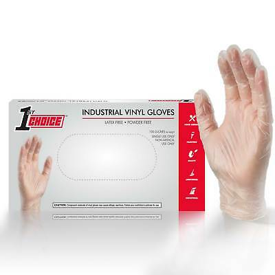 100 Vinyl Disposable Gloves Powder Free (Non Latex Non Nitrile) Clear - Large