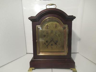 Stunning Antique 1911 Junghans Westminster Chimes 8 Day Mahogany Bracket Clock