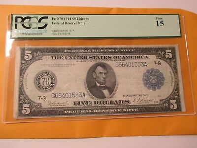 Fr.870 1914 $5 Federal Reserve Note (Chicago)