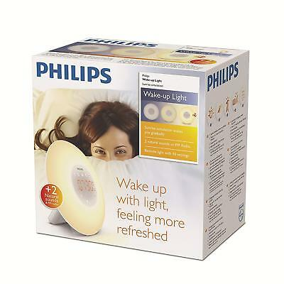 NEW Philips Wake-Up Light Alarm Clock HF3505/60 Sunrise Simulation