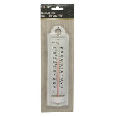 """8-7/8"""" Aluminum Indoor/Outdoor Wall Thermometer Ace 63562"""