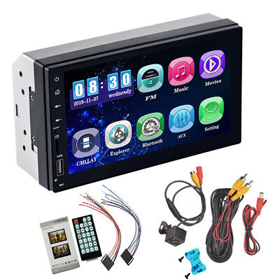 """Android 8.0 7"""" 2 DIN Car GPS HD Bluetooth Stereo Radio FM MP3 MP5 Player In-Dash"""