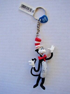 """RARE APPLAUSE Dr. Seuss Cat In The Hat Collectible Keyring 4"""" Keychain UNUSED"""
