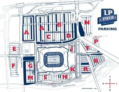 Titans vs Colts Parking Pass Lot F 12/30 Great Tailgating Spot no tickets