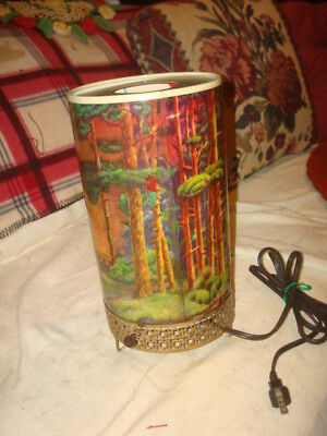 Antique Forest & Trees heat motion lamp L A Goodman MFG Co. 1956