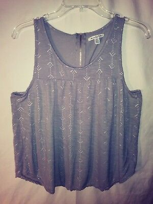 3b0f72ac American Eagle Outfitters Soft & Sexy Tank Top Womens Medium Gray