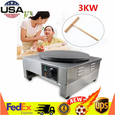 "16"" Commercial Pancake Fruit Machine Single Head Electric Crepe Maker 110V 3KW"