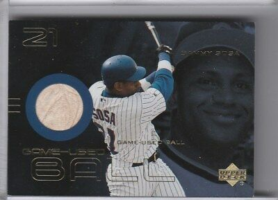 2000 Upper Deck #B-Ss Sammy Sosa Game-Used Baseball Relic Chicago Cubs A228