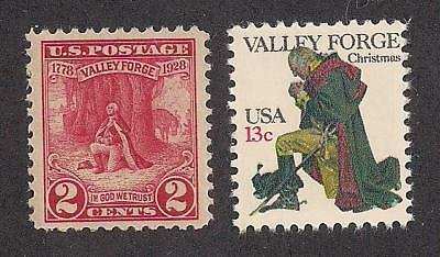George Washington At Valley Forge - 2 U.s. Stamps (1928 & 1978) - Mint Condition