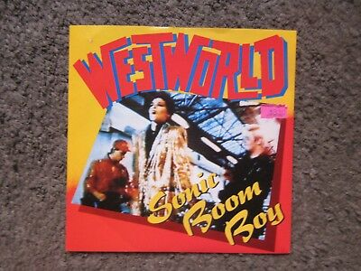 "Westworld ""sonic Boom Boy""+""mission Impossible"" 1987 Uk W/ps Oop 7"" Nm/ex"