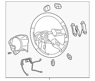 Gm Oem Steering Wheel 10364490