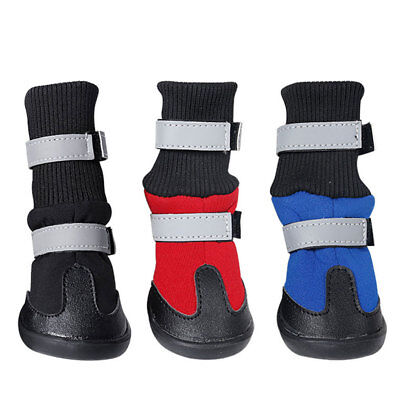 Soft Dog Waterproof Boots Pet Paw Protector Anti-Slip Dog Shoes For Large Dogs
