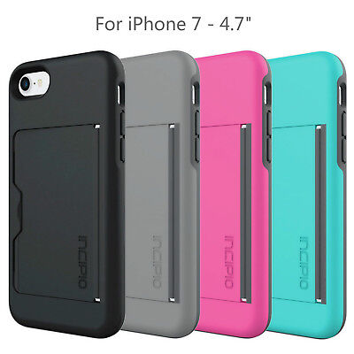 best service 6f703 4acbb 4 COLOR INCIPIO Stowaway Credit Card ID Case w/ Kickstand Case for iPhone 7  & 8