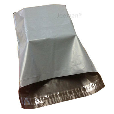 """200 Grey Mailing Bags 13"""" x 19"""" Strong Poly Postal Postage Mail Self Seal Cheap"""