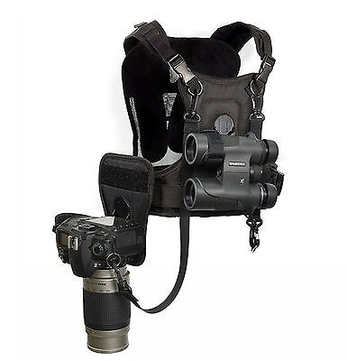 Cotton Carrier Camera Harness for 1 Camera and 1 Binocular