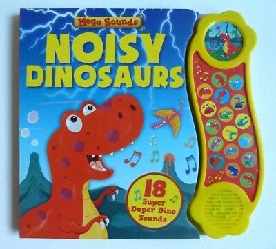Noisy Dinosaur Sound Books With 18 Super Duper Dino Sounds Kids Ages 0 Months+