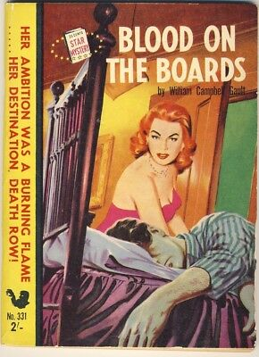 William Campbell Gault - BLOOD ON THE BOARDS [ Australian Star Books No. 331 ]