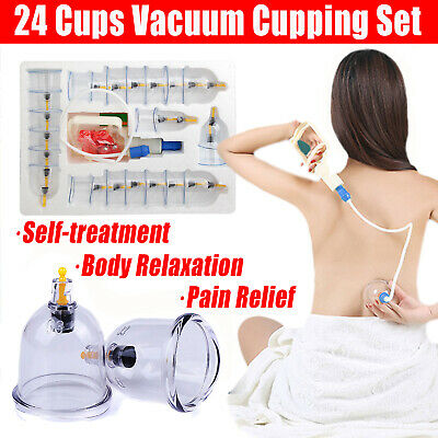 32 Cups Vacuum Cupping Set Massage Acupuncture Suction Massager Kit Pain Relief