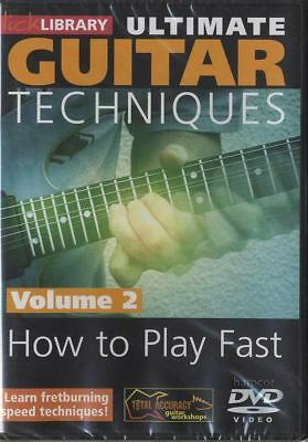 How To Play Fast Vol 2 Lick Library Ultimate Guitar Techniques DVD Shred