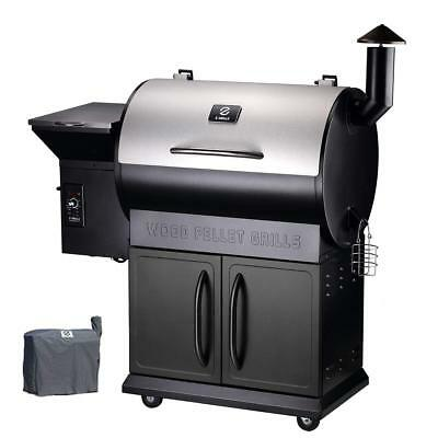 Z GRILLS Pellet Grill Outdoor BBQ Smoker Heavy Duty Stainless Steel Lid, 700 sq